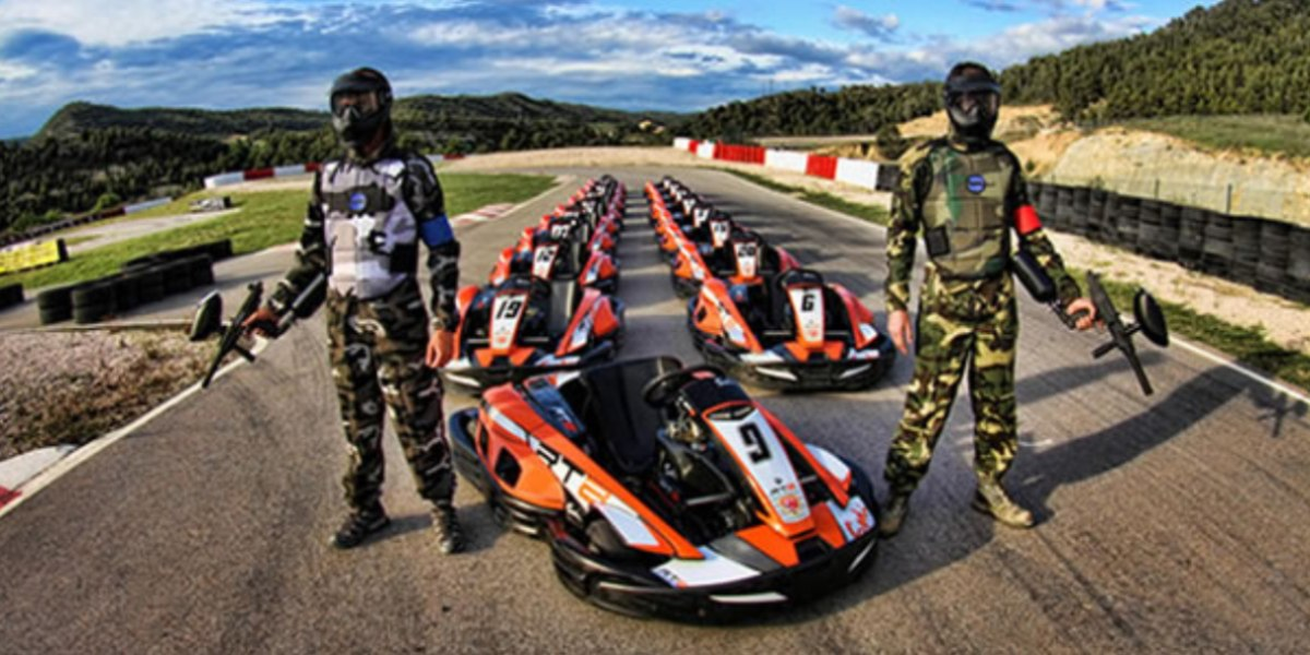 Karting i paintball, combinació perfecte