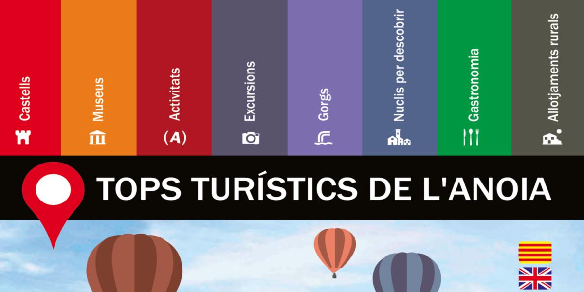"""Es reedita el catàleg """"Tops turístics de l'Anoia"""" amb més informació"""