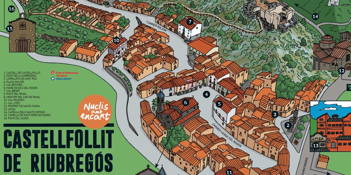 """Castellfollit de Riubregós s'afegeix a la llista de """"Nuclis amb encant"""" de l'Anoia"""