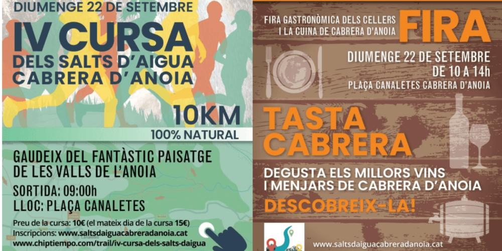 4ª Carrera de los Saltos de Agua y la Feria TastaCabrera en Cabrera d'Anoia