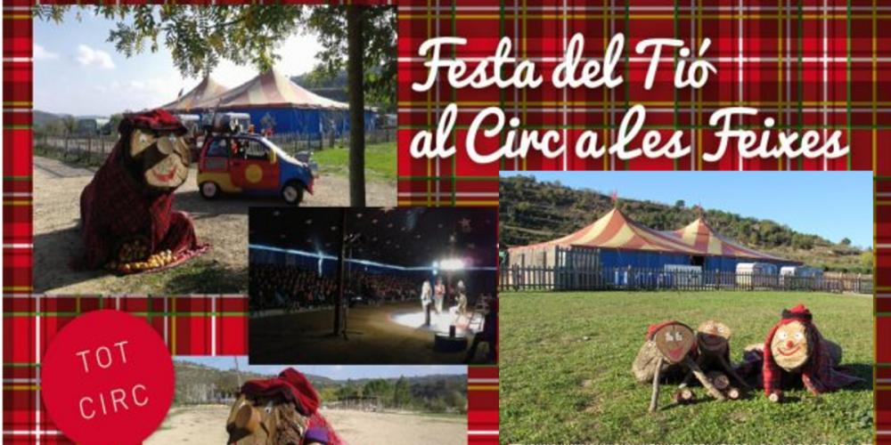 Festa del tió al circ a les Feixes