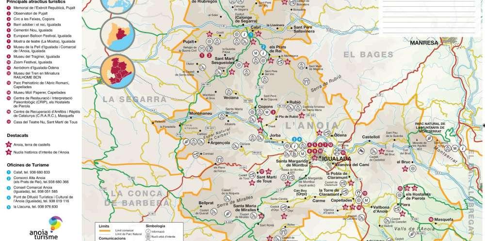 Nou mapa turístic de tota la comarca
