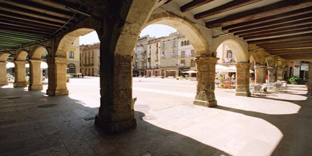La plaça de l'Ajuntament d'Igualada