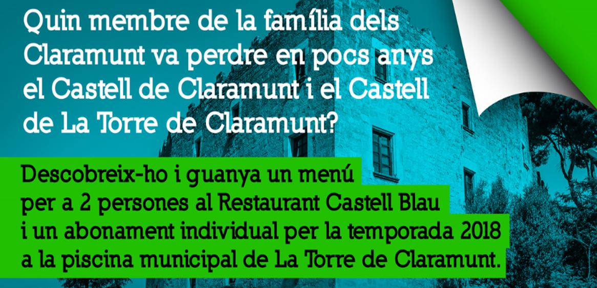 El castell de la Torre de Claramunt